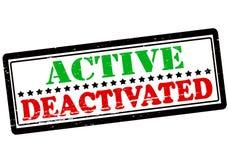 Aktiv und entaktiviert vektor abbildung