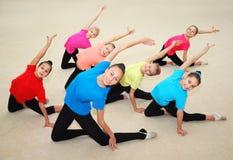 Aktiva sportiga flickor Royaltyfri Foto