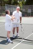 Aktive ältere Paare - Fairness stockfotos