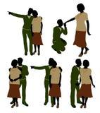 Aktive Ältere verbinden Abbildung-Schattenbild Stockfoto