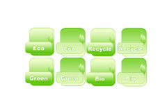 Aktive ecology button. In green for web Royalty Free Stock Image