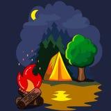 Aktive Freizeit auf dem Nacht Lizenzfreie Stockfotos