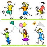 Aktive Karikatur-Kinder vektor abbildung