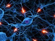 Aktive Nervenzelle Stockfoto