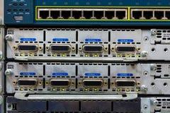 Aktive Netzwerkausrüstung. Lizenzfreie Stockfotos