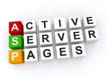 Aktive Server-Seiten Lizenzfreies Stockfoto
