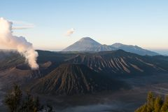 Aktiver Berg Bromo - Java, Indonesien lizenzfreies stockfoto