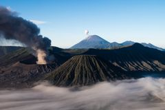 Aktiver Berg Bromo - Java, Indonesien lizenzfreie stockbilder