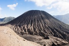 Aktiver Berg Bromo - Java, Indonesien lizenzfreies stockbild