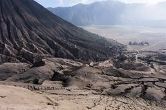 Aktiver Berg Bromo - Java, Indonesien lizenzfreie stockfotografie