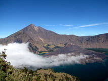 Aktiver Vulkan Gunung Rinjani Lizenzfreies Stockbild