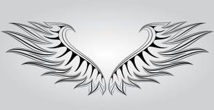 aktivera vingen royaltyfri illustrationer