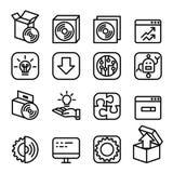 Aktivering inställning, konfiguration, underhåll royaltyfri illustrationer