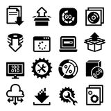 Aktivering, konfiguration, underhåll & installationssymbol vektor illustrationer
