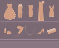 aktiveringskvinna för klänning s Arkivfoton