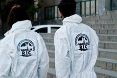 aktivister greenpeace Royaltyfri Foto