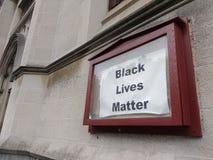 Aktiviströrelse, svart livfråga, NYC, NY, USA Royaltyfria Foton