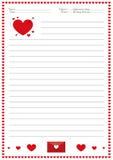 Aktivitet för handstil för dag för valentin` s för barn, aktivitet för handstil för dag för valentin` s för childreny Royaltyfri Fotografi