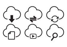 Aktivitet för molnlagringssymbol royaltyfri illustrationer