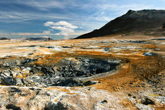 aktivitet geotermiska iceland arkivbilder
