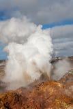 aktivitet geotermiska iceland Arkivfoto