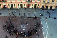 Aktivitet i Warszawa Arkivbilder
