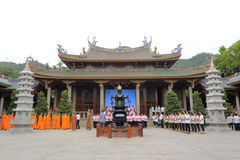 Aktiviteter för Nanputuo tempelvälfärd Fotografering för Bildbyråer