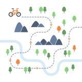 Aktiviteter för utomhus- sportar, cykelsymbol Arkivfoto
