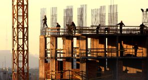 aktivitetskonstruktion Fotografering för Bildbyråer