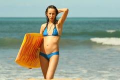 Aktivity en la playa Fotos de archivo libres de regalías