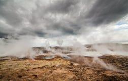Aktivt geotermiskt område Royaltyfria Bilder