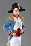 Aktor ubierający jako Napoleon. fotografia stock