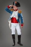 Aktor ubierający jako Napoleon obrazy stock