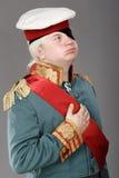 Aktor ubierający jako Rosyjski Generalissimo obraz stock