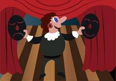 Aktor z jego maski royalty ilustracja