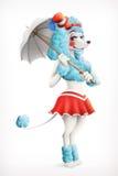 Aktorka cyrk, pudel royalty ilustracja