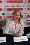Aktorka Malla Malmivaara, Finlandia, przy Moskwa Międzynarodowym Ekranowym festiwalem Zdjęcia Stock