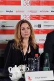 Aktorka Pihla Viitala, Finlandia, przy Moskwa Międzynarodowym Ekranowym festiwalem Zdjęcie Stock
