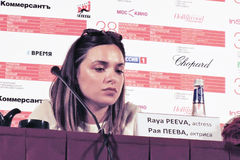Aktorka Raya Peeva zdjęcie stock