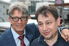 Aktorzy Erick Roberts i Aleksander Izotov Zdjęcie Royalty Free