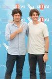 Aktorzy Fabio De Luigi i Angelo Duro zdjęcie stock
