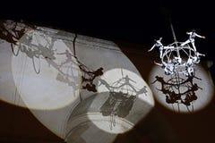 Aktorzy na nocy przedstawienia powietrza teatrze 3 Fotografia Royalty Free