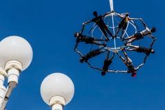 Aktorzy na przedstawienia powietrza teatrze Zdjęcia Stock