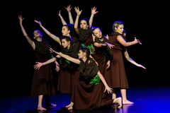 Aktorzy na theatre scenie fotografia stock