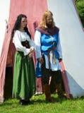 Aktorzy na wolnym powietrzu występ w Devin zdjęcia royalty free