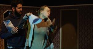Aktorzy próbuje w teatrze zbiory wideo