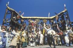 Aktorzy w kostiumu przy Renesansowym Faire, Agoura, Kalifornia zdjęcia stock