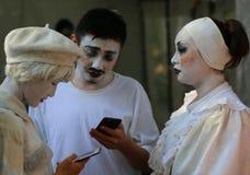 Aktorzy w przerwie, CPAA theatres Porcelanowi obraz royalty free