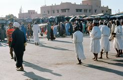 Aktörer Marrakesh. Marocko. Royaltyfria Foton