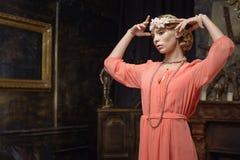 Aktris på scenen Royaltyfri Fotografi